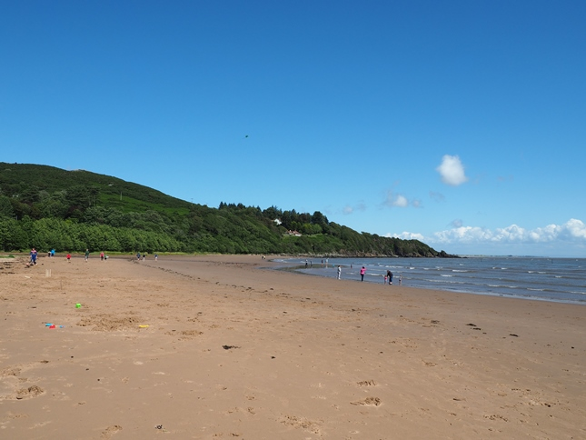 A popular coastal walk is from the beach at Sandyhills