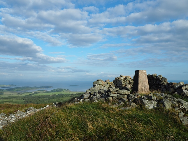 Great coastal views can be had from the top of Bengairn