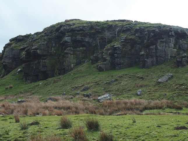 The solitary Collar Heugh Crag near High Old Shields