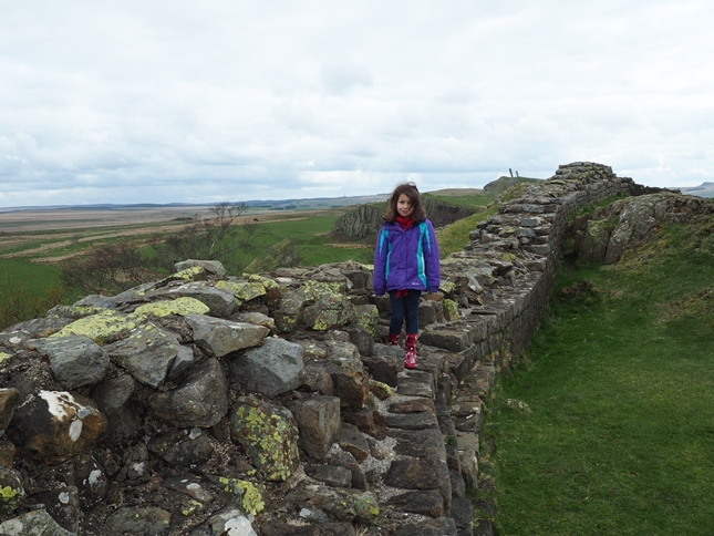 Rhiannon alongside Hadrian's Wall