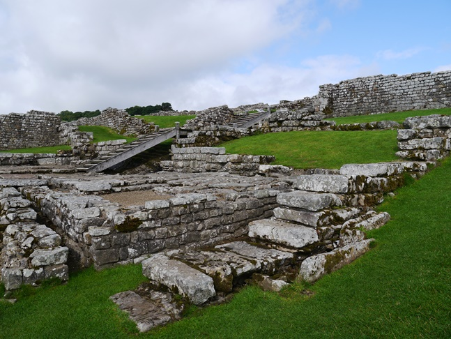 Remains of the Roman fort at Housesteads