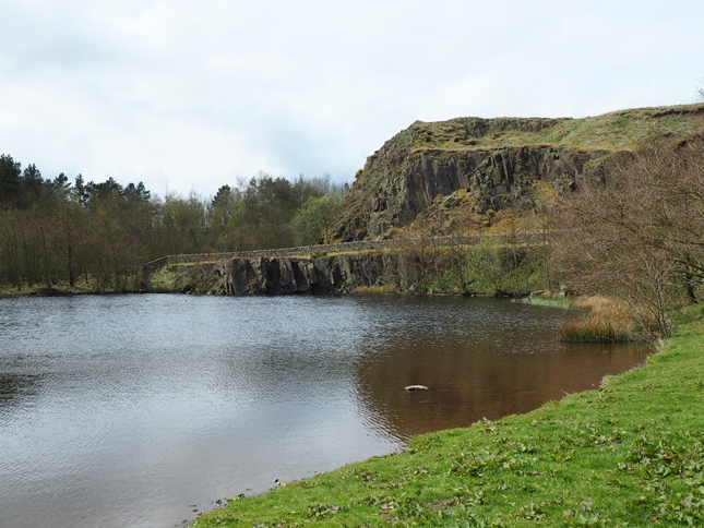 Either a small lough or an old quarry pool near the car park