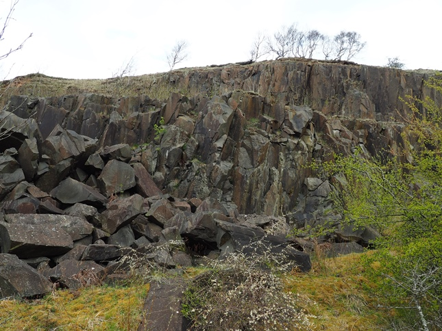 The Whin Sill rocks of Walltown Crags