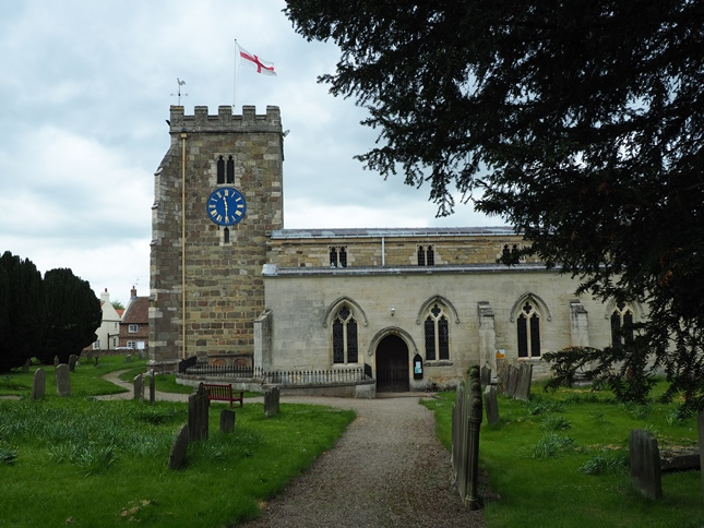 St Andrew's Church, Aldborough, that stands on the site of the Roman forum