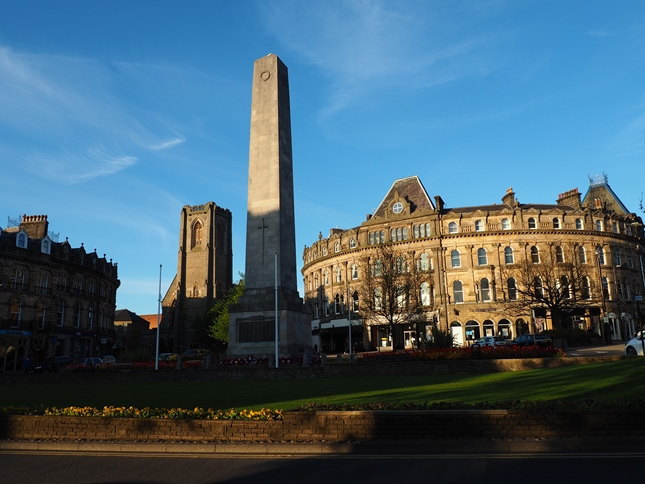 The cenotaph memorial to Harrogate's sons who died fighting in the First and Second World Wars