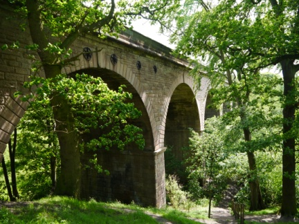The disused Crimple Valley Viaduct