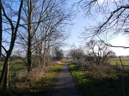 The former railway line now known as The Harland Way