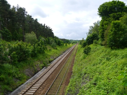 Crossing over the Leeds - Harrogate line