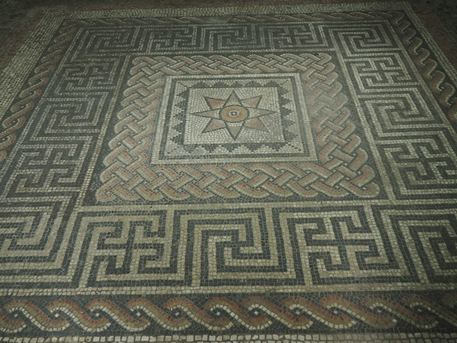 One of two well preserved mosaics, the chief attractions of the site