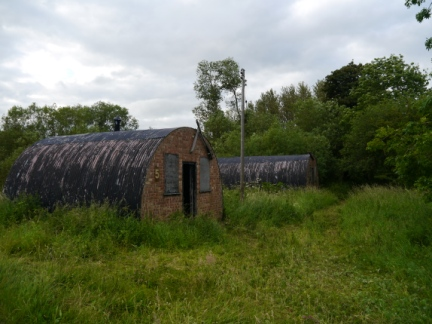 Nissen huts from an old WWII training camp