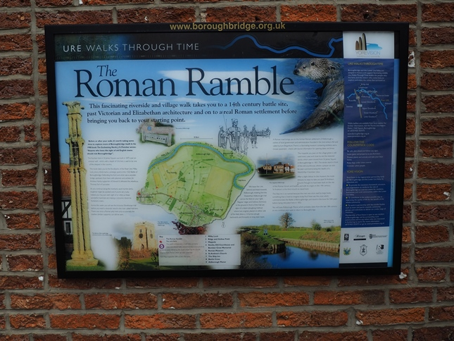 The start of the Roman Ramble in St James Square, Boroughbridge