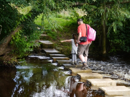 Stepping stones over the River Skell at Ripon
