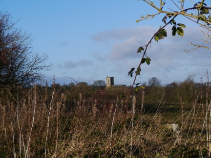 Looking back towards the church in Spofforth