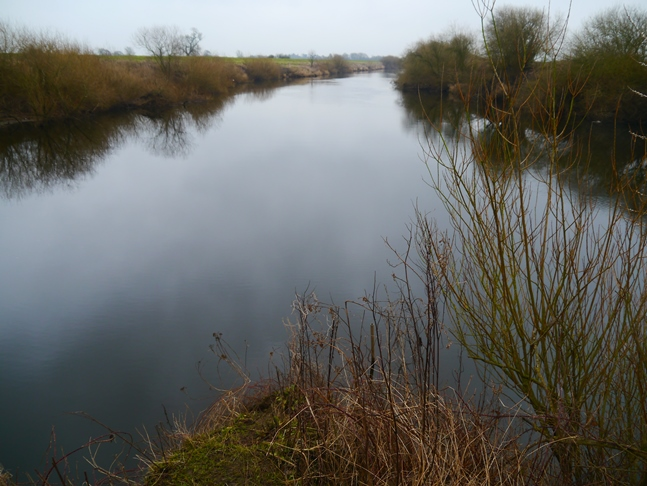 The peaceful spot where the Swale (on the left) joins the River Ure