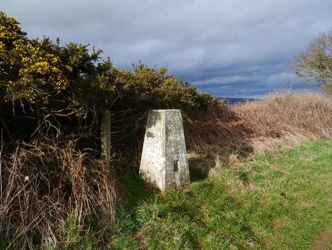 The trig point on Beacon Banks