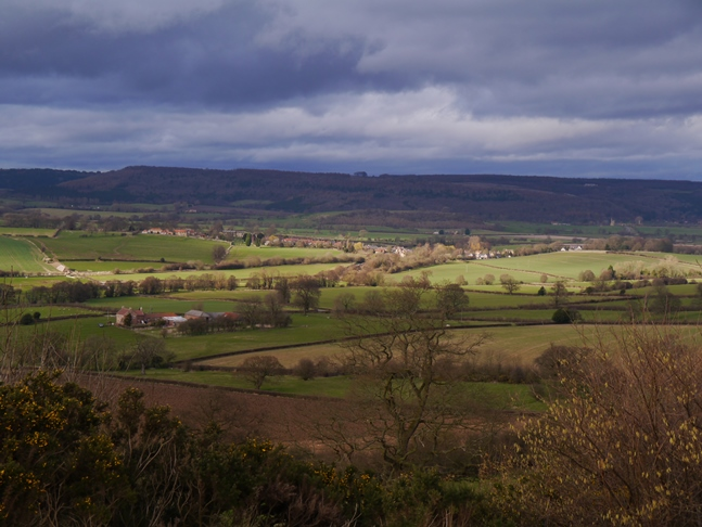 Looking down to Coxwold from Beacon Banks