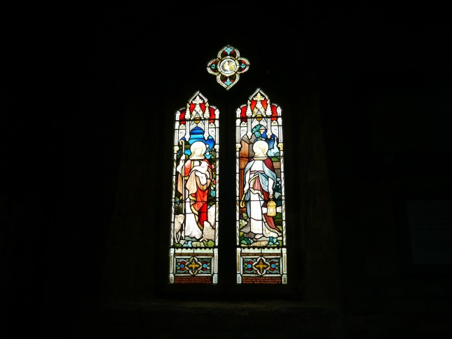 Stainglass window in St Michael's Church