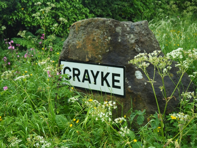 Leaving Crayke along Brandsby Road