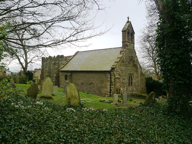 The lovely little St Peter's Church in Dalby much of which dates back to the 12th century
