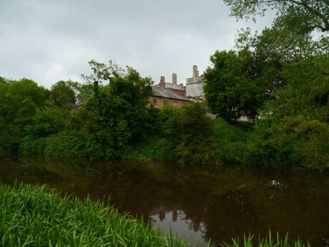 A glimpse of Howsham Hall across the River Derwent