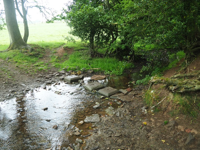 Stepping stones over the infant River Foss