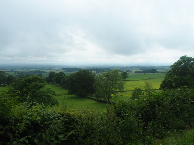 The extensive view across the Vale of York from Church Hill