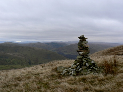 The cairn on Blease Fell
