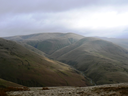 Looking across Carlin Gill to Fell Head and Linghaw