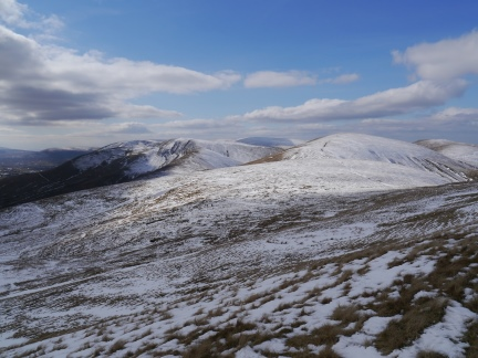 The Howgill Fells from the climb on to Green Bell