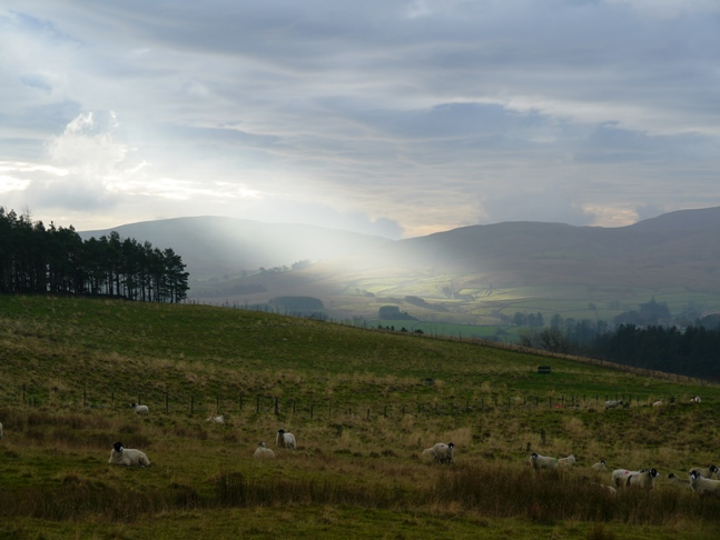 A beam of sunlight in the northern Howgills