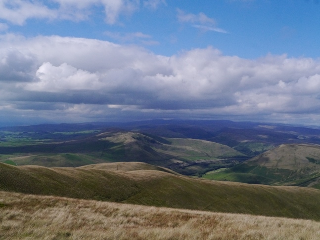 The view west towards the Lake District from Fell Head