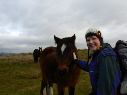Laura and one of the local fell ponies