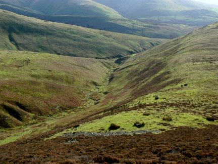 Looking down to Long Rigg Gill