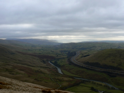 The River Lune and M6 motorway from Blease Fell