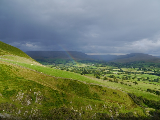 Rainbow over the Rawthey valley