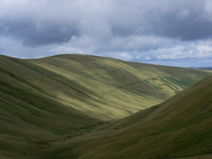 Rispa Pike from Blakethwaite Bottom  (spot the fell ponies!)