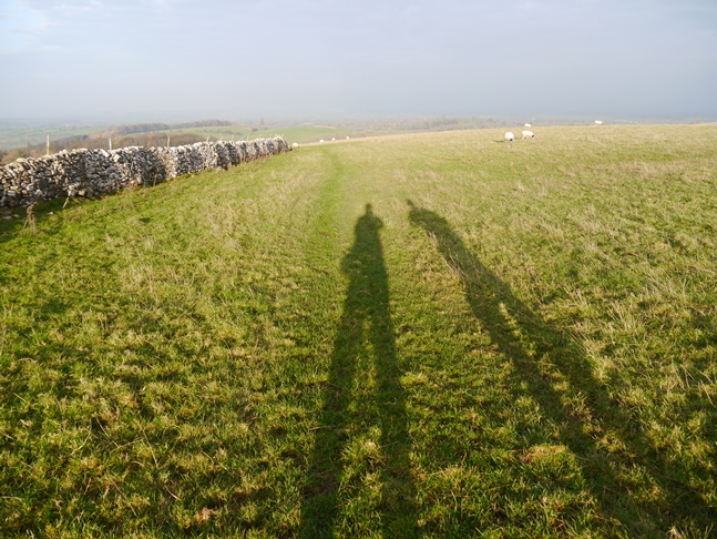 The late afternoon sunshine was casting some long shadows