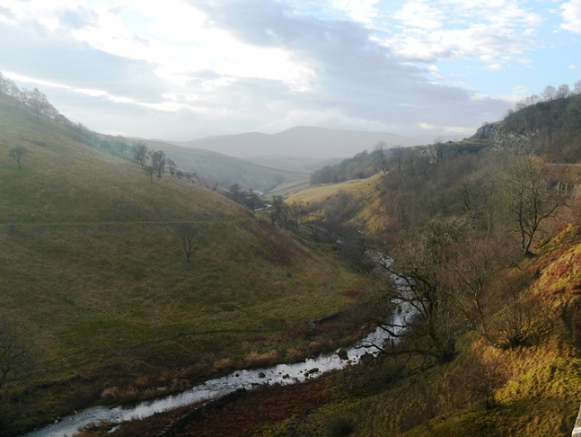 Looking south from the viaduct along Scandal Beck towards Green Bell