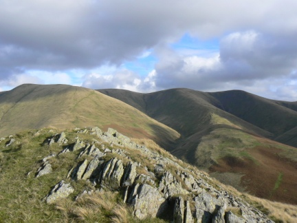 The top of Castley Knotts looking to Bram Rigg and Calders