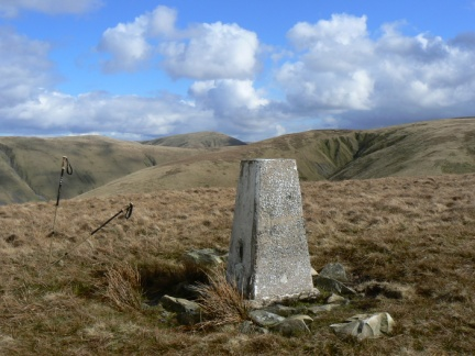 The trig point on Middleton