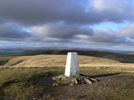 Summit trig on The Calf
