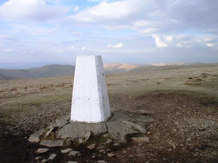 The trig point on The Calf