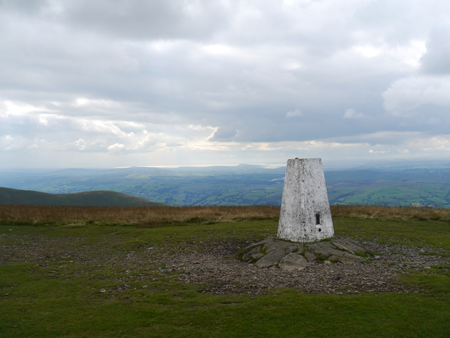 The trig point on the top of The Calf