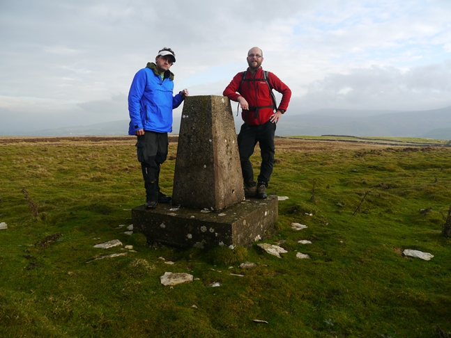 At the trig point on Windy Hill