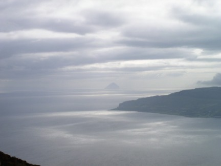 A distant view of Ailsa Craig