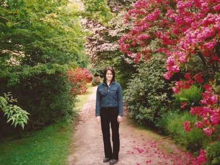Lisa in the grounds of Brodick Castle