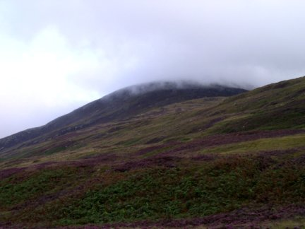 Looking back up at Meall nan Damh