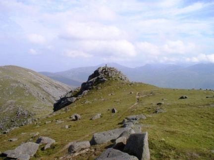 Stood on the rocky tor on Casteal na h-lolaire