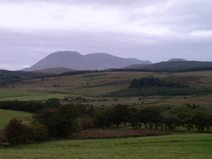 The Pirnmill Hills from Machrie Moor