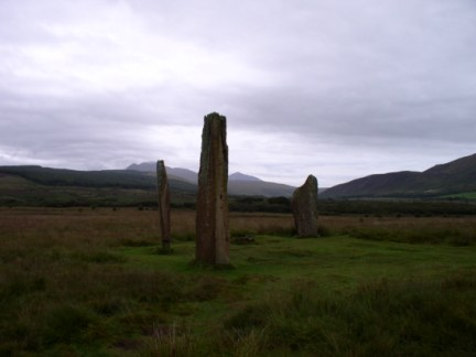 Standing stones on Machrie Moor
